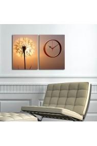 Ceas decorativ de perete(2 piese) Clockity ASR-248CTY1664 Multicolor