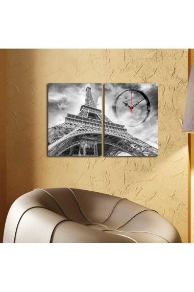 Ceas decorativ de perete(2 piese) Clockity ASR-248CTY1665 Multicolor