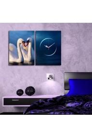Ceas decorativ de perete(2 piese) Clockity ASR-248CTY1666 Multicolor