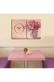 Ceas decorativ de perete(2 piese) Clockity ASR-248CTY1667 Multicolor