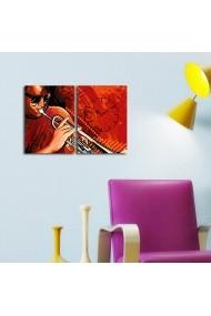 Ceas decorativ de perete(2 piese) Clockity ASR-248CTY1670 Multicolor