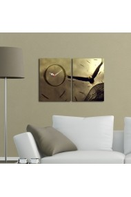 Ceas decorativ de perete(2 piese) Clockity ASR-248CTY1671 Multicolor