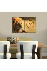 Ceas decorativ de perete(2 piese) Clockity ASR-248CTY1672 Multicolor