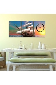 Ceas decorativ de perete(3 piese) Clockity ASR-248CTY1674 Multicolor