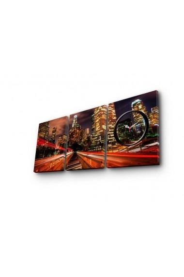 Ceas decorativ de perete(3 piese) Clockity ASR-248CTY1676 Multicolor