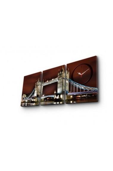 Ceas decorativ de perete(3 piese) Clockity ASR-248CTY1677 Multicolor