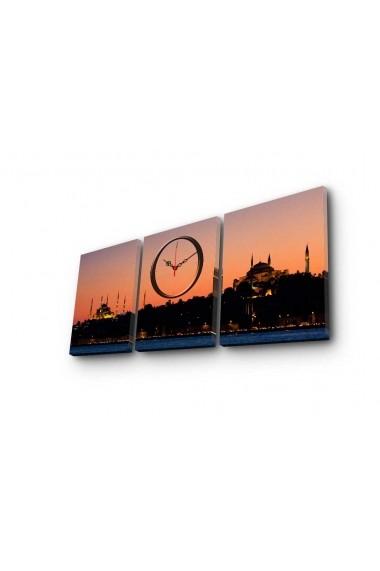 Ceas decorativ de perete(3 piese) Clockity ASR-248CTY1678 Multicolor
