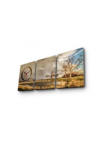 Ceas decorativ de perete(3 piese) Clockity ASR-248CTY1679 Multicolor