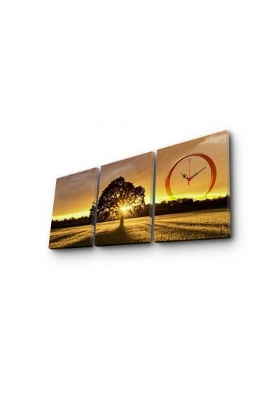 Ceas decorativ de perete(3 piese) Clockity ASR-248CTY1680 Multicolor