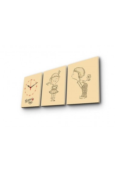 Ceas decorativ de perete(3 piese) Clockity ASR-248CTY1681 Multicolor