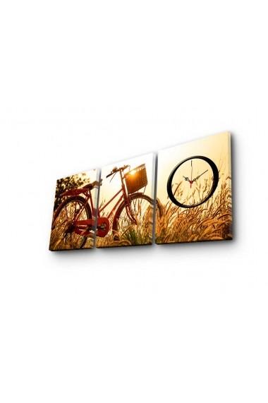 Ceas decorativ de perete(3 piese) Clockity ASR-248CTY1682 Multicolor