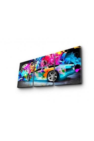 Ceas decorativ de perete(3 piese) Clockity ASR-248CTY1683 Multicolor