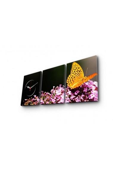 Ceas decorativ de perete(3 piese) Clockity ASR-248CTY1684 Multicolor
