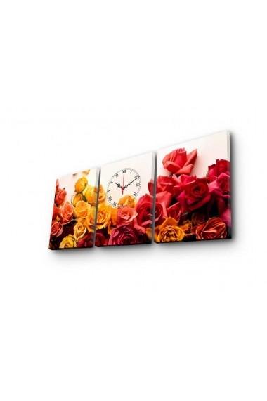 Ceas decorativ de perete(3 piese) Clockity ASR-248CTY1686 Multicolor