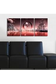 Ceas decorativ de perete(3 piese) Clockity ASR-248CTY1688 Multicolor