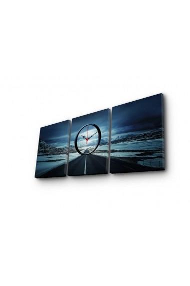 Ceas decorativ de perete(3 piese) Clockity ASR-248CTY1689 Multicolor