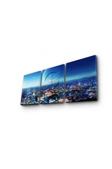 Ceas decorativ de perete(3 piese) Clockity ASR-248CTY1690 Multicolor