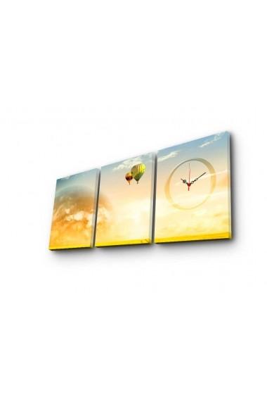 Ceas decorativ de perete(3 piese) Clockity ASR-248CTY1691 Multicolor