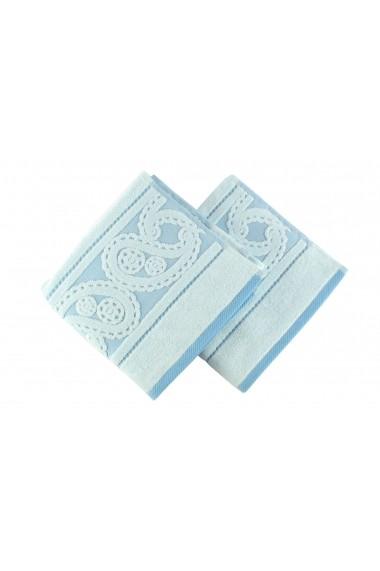 Set 2 prosoape pentru maini Hobby 317HBY1202 Albastru
