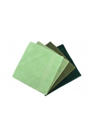 Set 4 prosoape pentru maini Hobby 317HBY1253 Verde