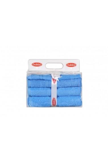 Set 3 prosoape de baie Hobby 317HBY1573 Albastru