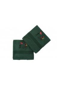 Set 2 prosoape pentru maini Hobby 317HBY2249 Verde