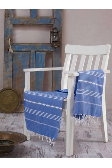 Prosop de plaja Fouta Eponj Home ASR-336EPJ1348 Albastru