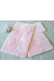 Set 3 covorase de baie Chilai Home by Alessia ASR-351ALS2045 roz