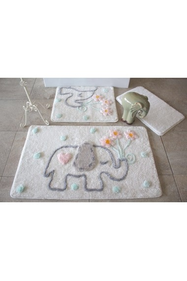 Set 3 covorase de baie Chilai Home by Alessia ASR-351ALS2086 crem