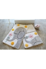 Set 3 covorase de baie Chilai Home by Alessia ASR-351ALS2107 Multicolor