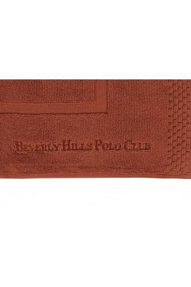 Set 2 covoare de baie Beverly Hills Polo Club 355BHP1299 Caramiziu