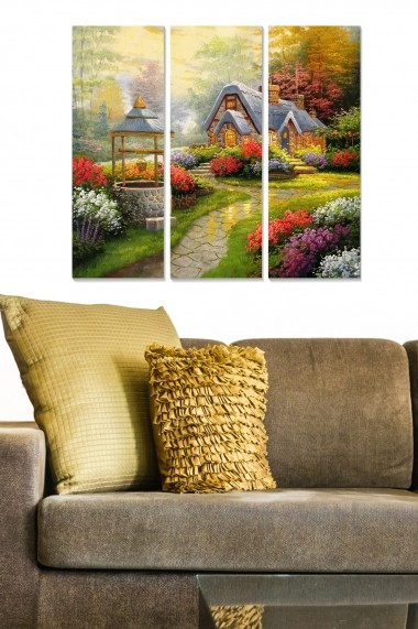 Tablou decorativ (set 3 piese) Bianca 553BNC1109 multicolor