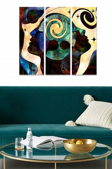 Tablou decorativ (set 3 piese) Bianca 553BNC1110 multicolor