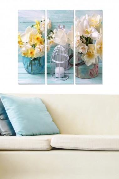Tablou decorativ (set 3 piese) Bianca 553BNC1113 multicolor