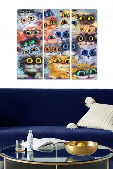 Tablou decorativ (set 3 piese) Bianca 553BNC1122 multicolor