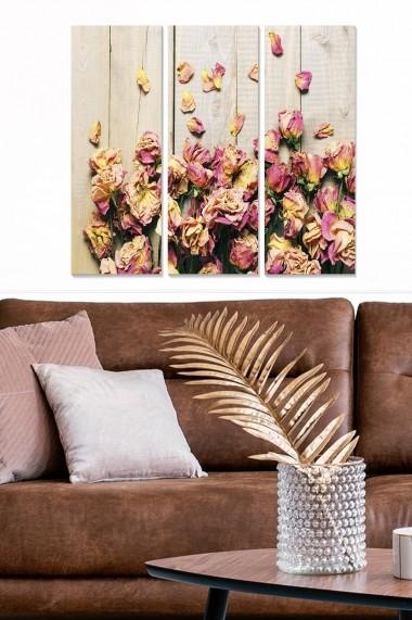 Tablou decorativ (set 3 piese) Bianca 553BNC1125 multicolor