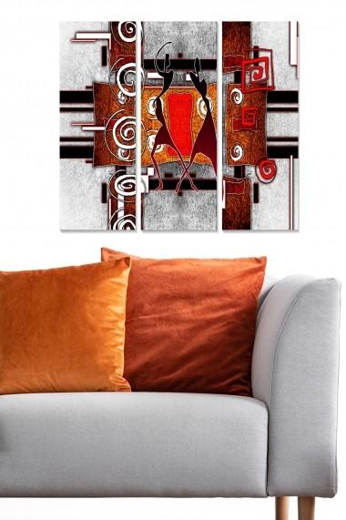 Tablou decorativ (set 3 piese) Bianca 553BNC1152 multicolor