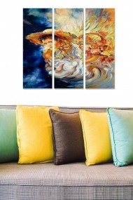 Tablou decorativ (set 3 piese) Bianca 553BNC1180 multicolor