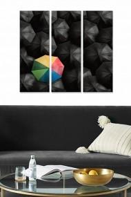 Tablou decorativ (set 3 piese) Bianca 553BNC1192 multicolor