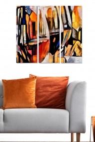 Tablou decorativ (set 3 piese) Bianca 553BNC1205 multicolor