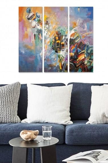 Tablou decorativ (set 3 piese) Bianca 553BNC1211 multicolor