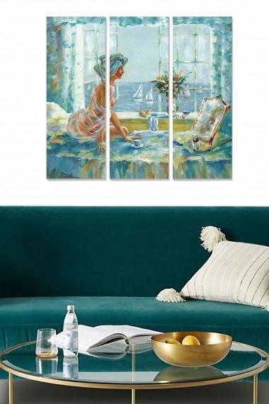 Tablou decorativ (set 3 piese) Bianca 553BNC1213 multicolor