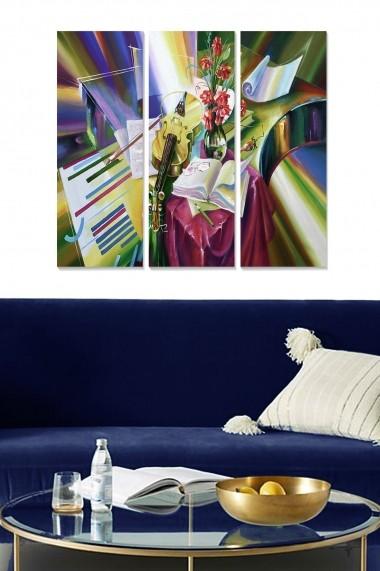 Tablou decorativ (set 3 piese) Bianca 553BNC1224 multicolor