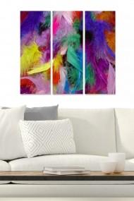 Tablou decorativ (set 3 piese) Bianca 553BNC1243 multicolor