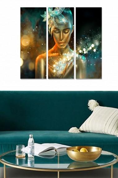 Tablou decorativ (set 3 piese) Bianca 553BNC1279 multicolor