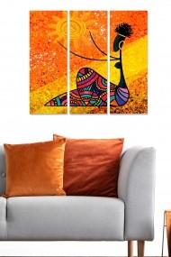 Tablou decorativ (set 3 piese) Bianca 553BNC1294 multicolor