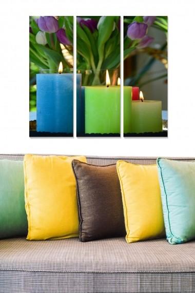 Tablou decorativ (set 3 piese) Bianca 553BNC1312 multicolor