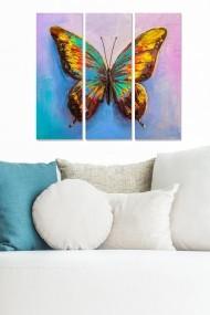 Tablou decorativ (set 3 piese) Bianca 553BNC1317 multicolor