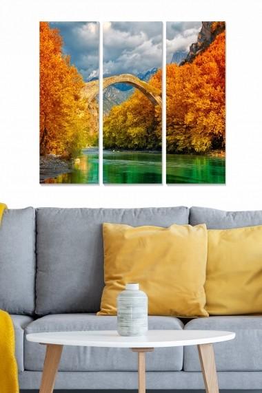 Tablou decorativ (set 3 piese) Bianca 553BNC1326 multicolor