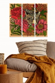 Tablou decorativ (set 3 piese) Bianca 553BNC1327 multicolor